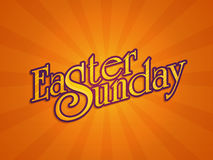 Easter Sunday Poster, Banner or Flyer design. Stock Photos