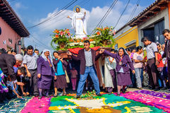 Easter Sunday procession, Antigua, Guatemala Royalty Free Stock Photos