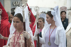 Easter Sunday procession in Nerja Spain Stock Images