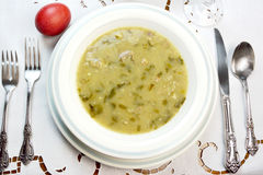 Easter Sunday soup Stock Photos