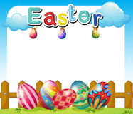 An Easter Sunday template Stock Images