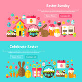 Easter Sunday Website Banners Stock Images