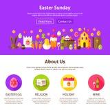 Easter Sunday Website Design Stock Images