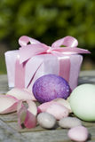 Easter surprise. Beautiful easter surprise with goodies Stock Photography