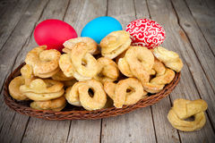 Easter Sweet Bagels Royalty Free Stock Photos
