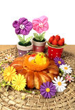 Easter sweet baked and  decor Royalty Free Stock Photo
