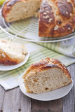 Easter sweet bread royalty free stock photo