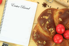 Easter sweet bread Stock Photos