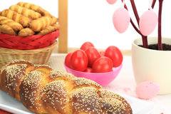 Easter sweet bread Stock Images
