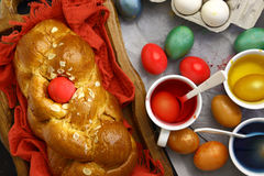 Easter sweet brioche Royalty Free Stock Photography