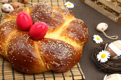 Easter sweet brioche Royalty Free Stock Photos