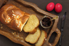 Easter sweet brioche Royalty Free Stock Photo
