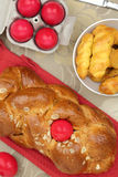 Easter sweet brioche Royalty Free Stock Images