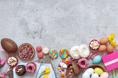 Easter sweet food selection Stock Images