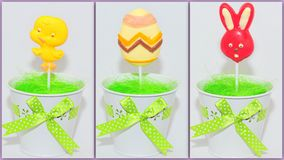 Easter sweets collage Royalty Free Stock Photos