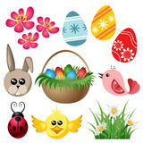 Easter symbol set Stock Photos