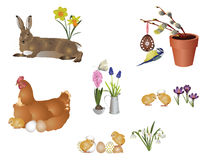 Easter symbols Royalty Free Stock Photography
