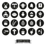 Easter Symbols Round Icon Set Royalty Free Stock Photos