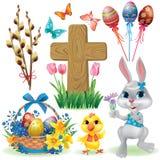 Easter Symbols Set Stock Photos