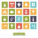 Easter Symbols Square Icon Set Royalty Free Stock Photos