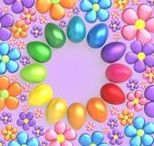 easter tło z Easter wiosną i jajkami kwitnie royalty ilustracja