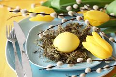 Easter table Stock Photo