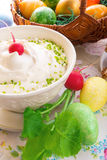 Easter table. Fresh and tasty quark Stock Photography