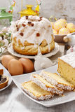 Easter table with cakes Stock Images