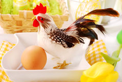 Easter table  with cock Stock Photography