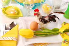 Easter table  with cock Royalty Free Stock Image