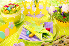 Easter table decoration royalty free stock photo
