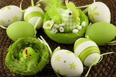 Easter table decoration Stock Images