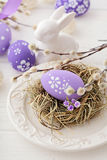 Easter table decoration Royalty Free Stock Photography