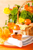 Easter table decoration Stock Photos