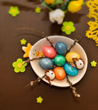 Easter table design - tilt shift photo Stock Photos