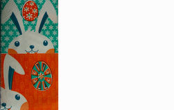 Easter table-napkin. Easter greeting card with bunny easter and easter egg, happy easter, easter table-napkin Royalty Free Stock Photography