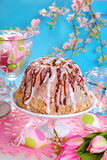 Easter table with ring cake Stock Photos