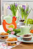 Easter table set Stock Images