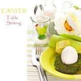 Easter table setting. Royalty Free Stock Photography