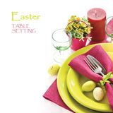 Easter table setting. Royalty Free Stock Photo