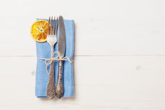 Easter Table Setting Celebration. Easter Table Setting, Place setting for Dinner Decorations. Easter background Royalty Free Stock Image