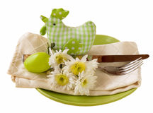 Easter table setting Stock Photography