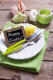Easter table setting. Stock Photography
