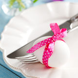 Easter table setting with egg Stock Image