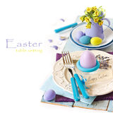 Easter table setting. Stock Image