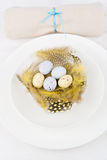 Easter table setting Stock Photo