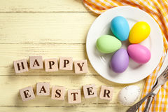 Easter table setting royalty free stock image