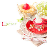 Easter table setting. Royalty Free Stock Images