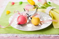 Easter table setting Royalty Free Stock Photography