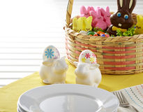 Easter Table Setting Royalty Free Stock Photos